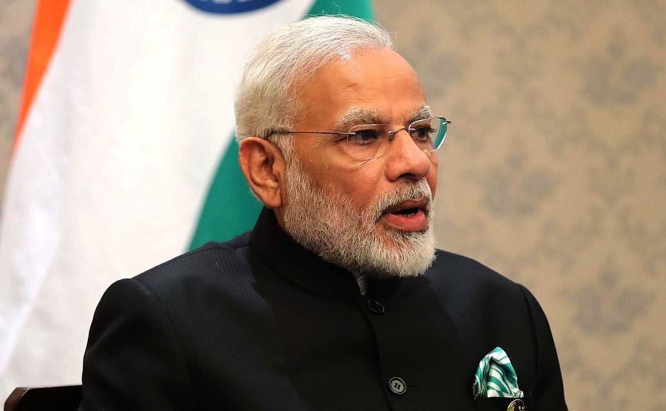 Narendra Modi, primeiro-ministro da Índia (Foto: Divulgação/Kremlin)