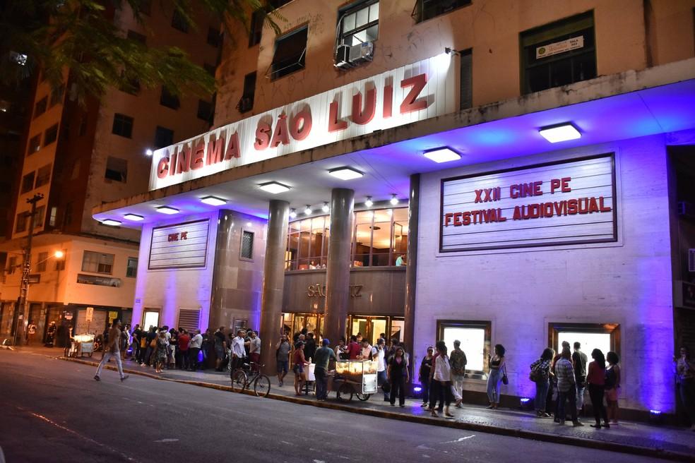 Cine PE ocorre no Cinema São Luiz, no Centro do Recife — Foto: Felipe Souto Maior/Divulgação