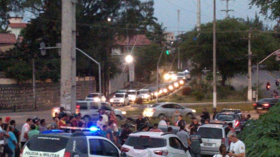 Caso aconteceu no fim da tarde na Avenida Ayrton Senna, em Natal — Foto: Redes Sociais