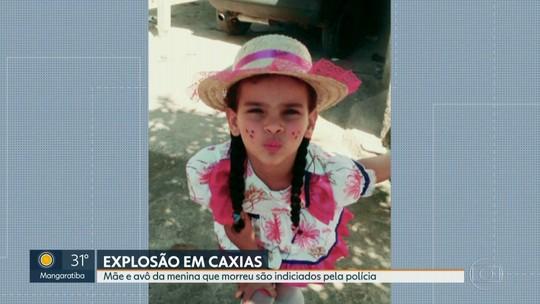 Mãe e avô da menina que morreu numa explosão em Duque de Caxias são indiciados