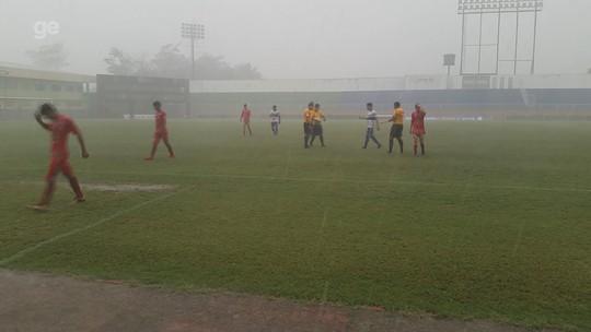 Acreano Sub-20: em jogo com interrupção por chuva, Atlético-AC e São Francisco empatam