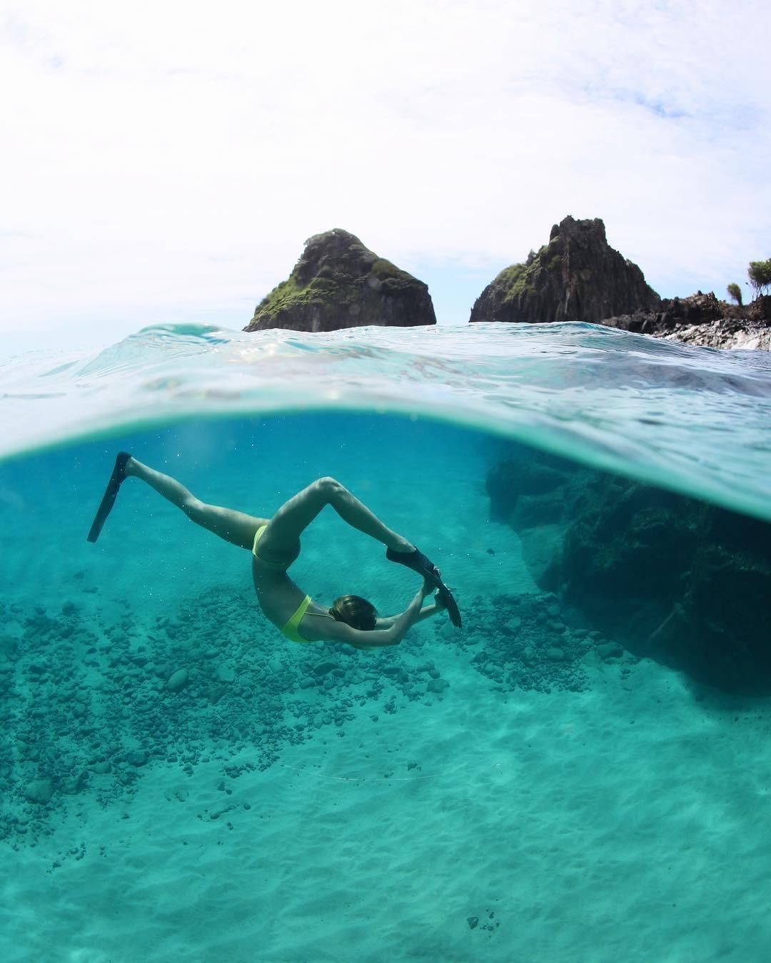 Sasha Meneghel mergulha em Fernando de Noronha (Foto: Reprodução/Instagram)