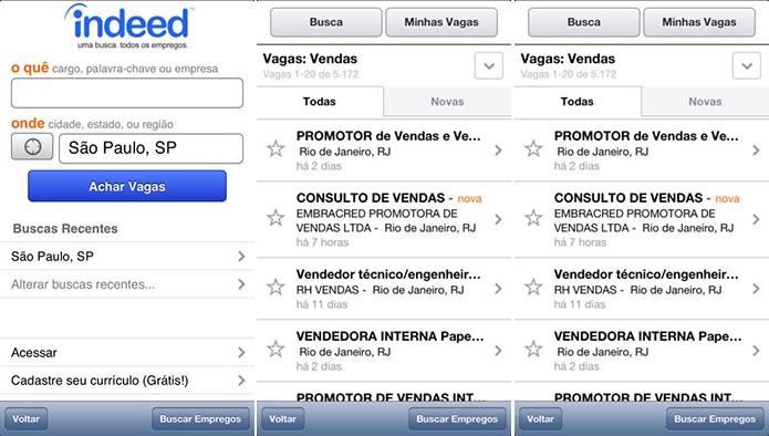 Empregos é um aplicativo para Android e iOS que ajuda usuário a procurar trabalho (Foto: Divulgação/App Store)