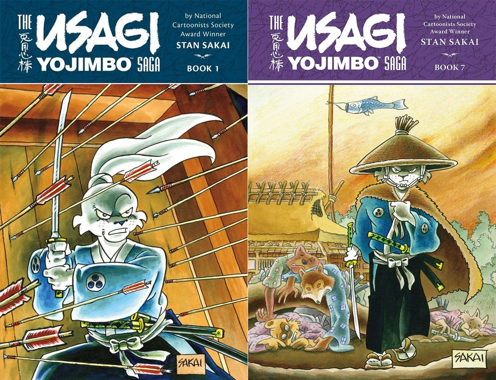 Capas do mangá 'Usagi Yojimbo' — Foto: Divulgação