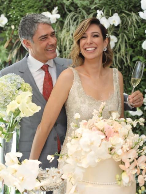 O jornalista William Bonner e a fisioterapeuta Natasha Dantas se casaram neste sábado (Foto: Arquivo pessoal)