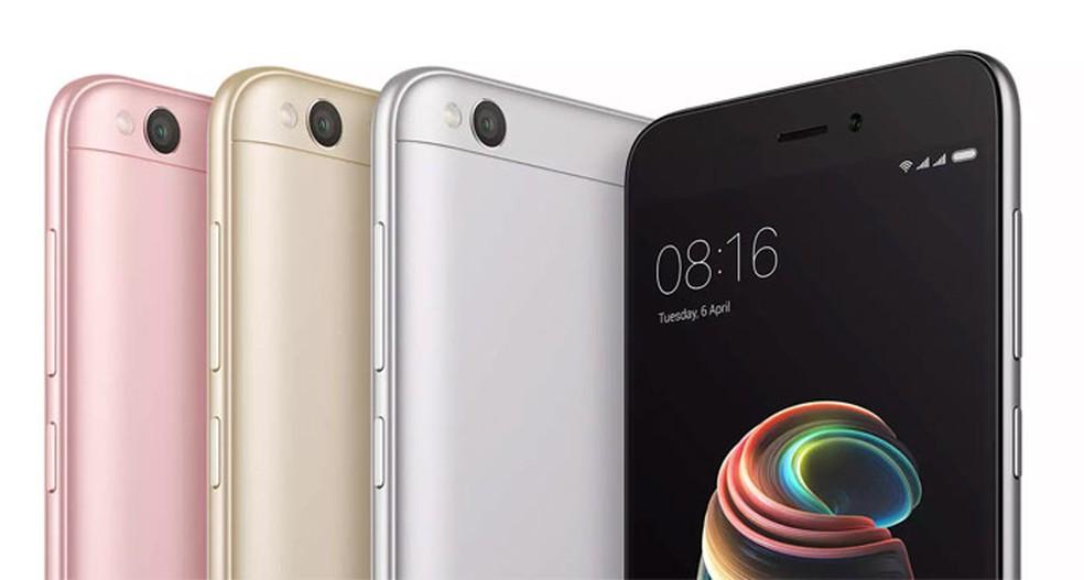 Redmi 5A é o celular intermediário da Xiaomi (Foto: Divulgação/Xiaomi)