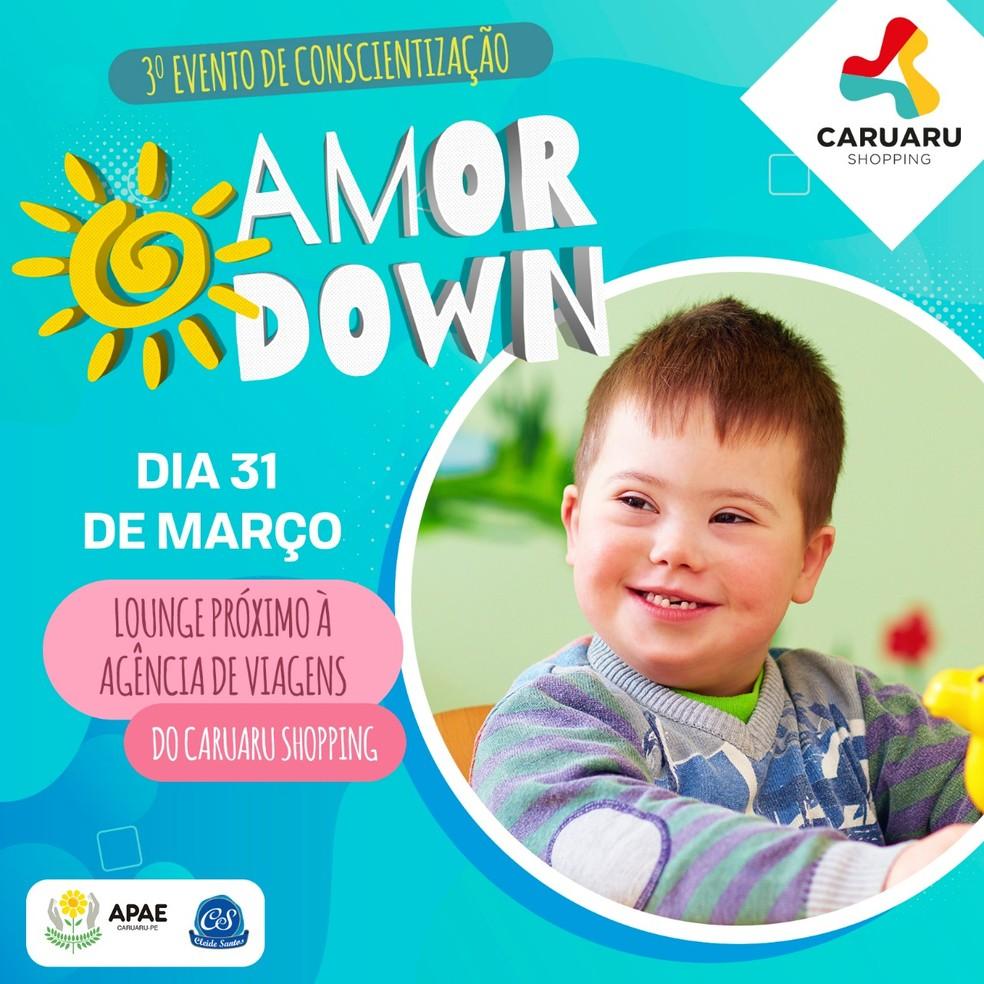 Evento é em homenagem ao Dia Internacional da Síndrome de Down, comemorado no dia 21 de março.  — Foto: Assessoria de Comunicação/Divulgação