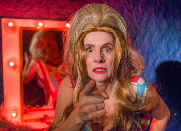 Nicole Puzzi na peça Transex (Foto: Divulgação/Andre Stefano)