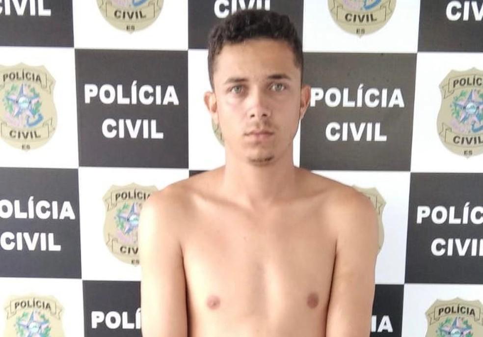Nicolas Brayan Pereira Alves, de 21 anos, preso por assassinato na Serra — Foto: Divulgação/Polícia Civil