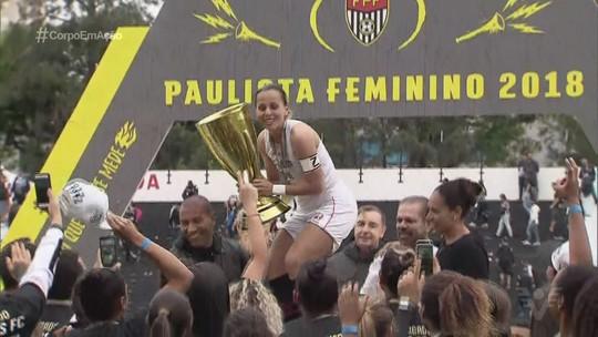 'Não acreditei que a bola tinha entrado', diz Ketlen, autora do gol do título do Santos no Paulista Feminino