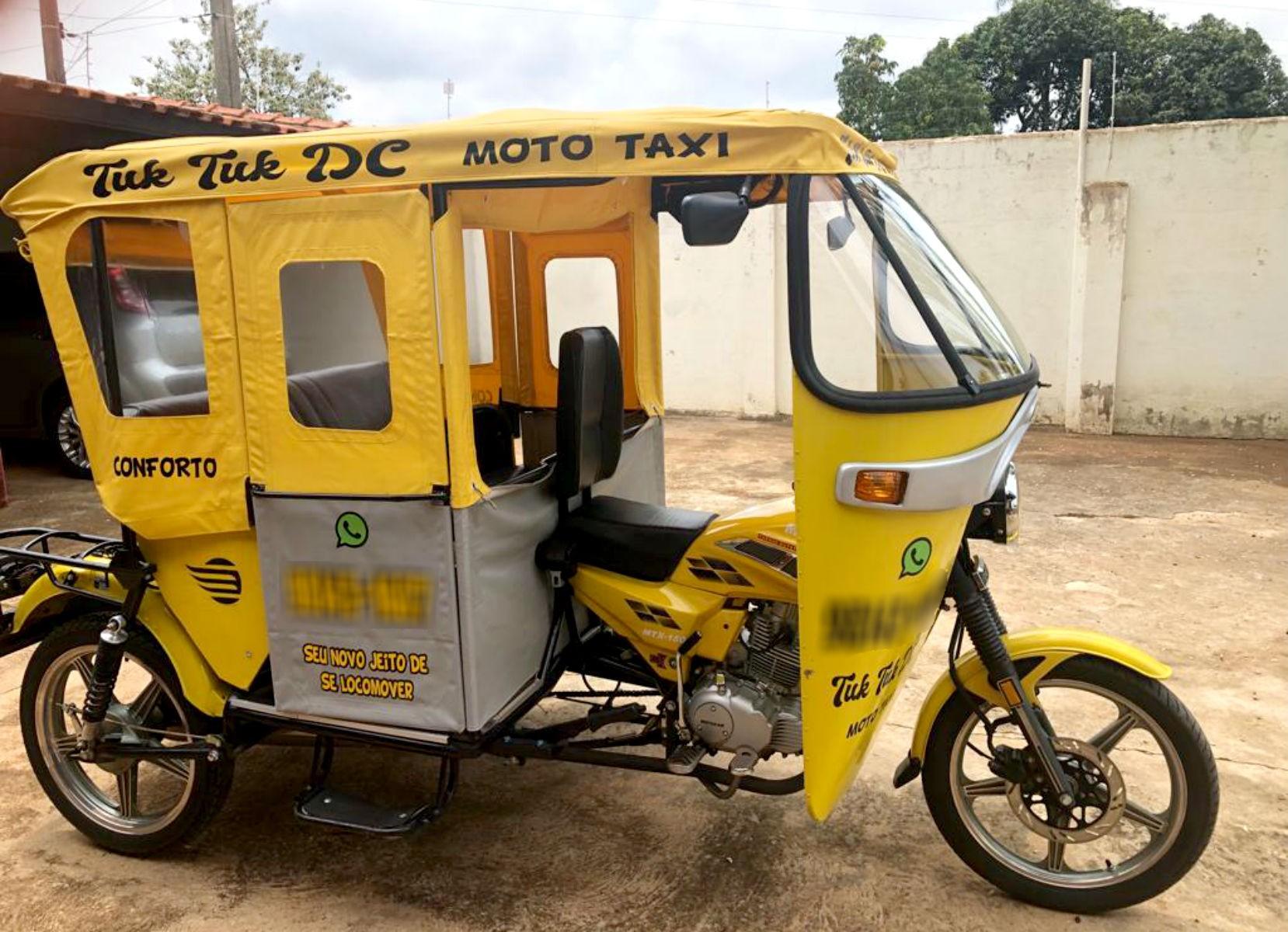 Mototáxi no estilo 'tuk tuk' chama atenção nas ruas de cidade do interior de SP  - Notícias - Plantão Diário
