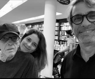 Rubem Fonseca, Claudia Abreu e José Fonseca | Reprodução