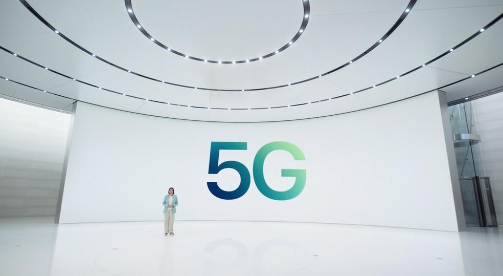 iPhone 12 funciona com internet 5G — Foto: Reprodução/Apple