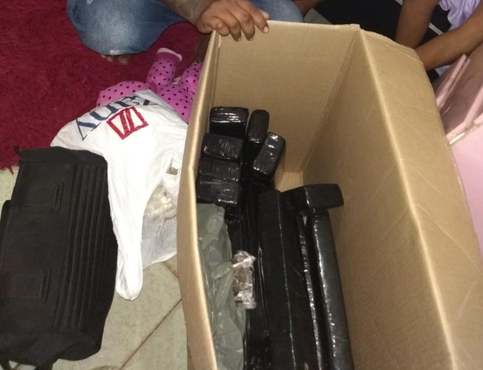 Droga foi apreendida no bairro Planalto em Porto Velho  — Foto: Polícia Civil/Divulgação