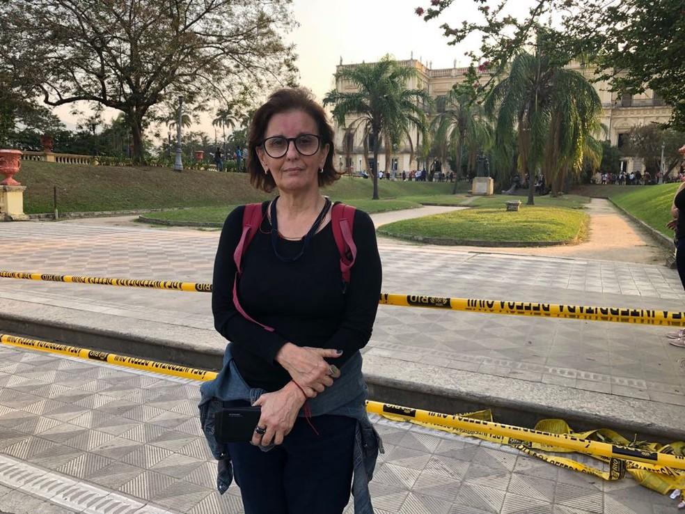 Ruth Saldanha foi contratada em 2013 pelo Museu Nacional para buscar fontes de financiamento para a reforma (Foto: Carlos Brito/G1)