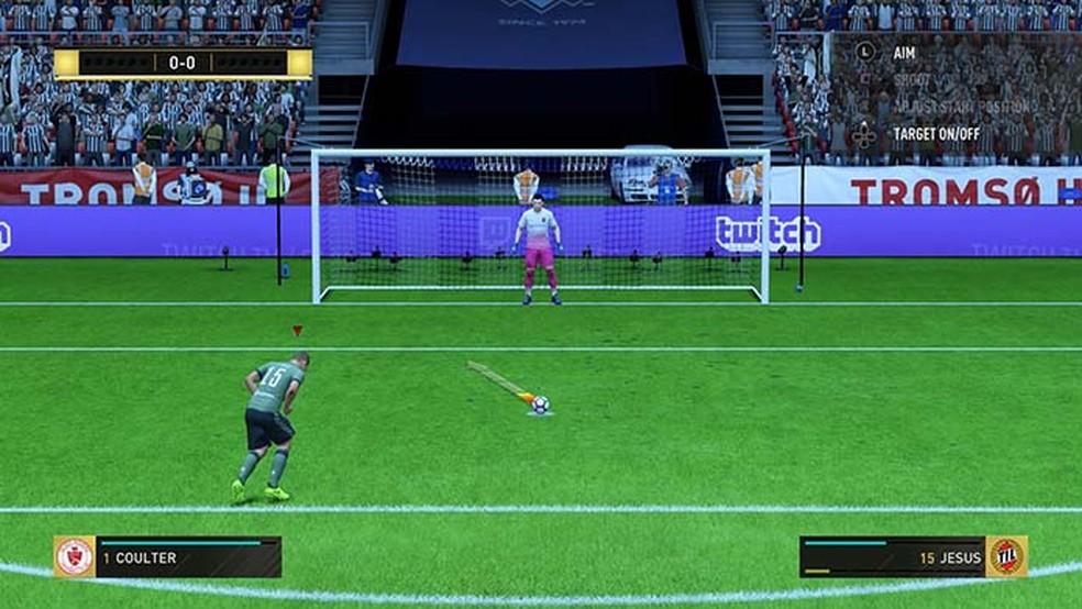 Veja truques para vencer disputas por pênaltis em Fifa 18 (Foto: Reprodução/Murilo Molina)