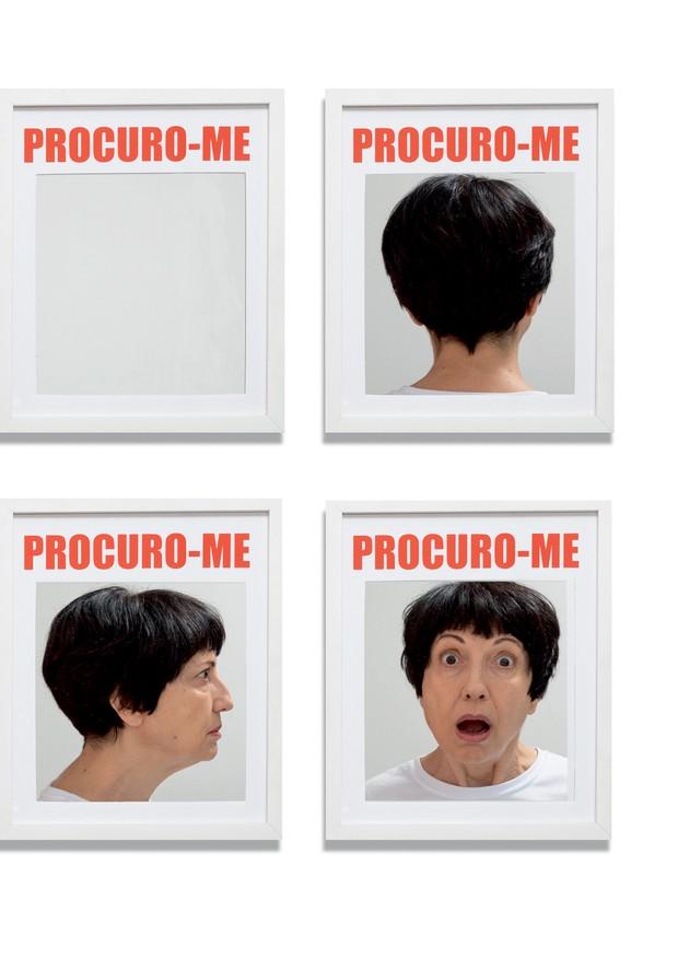Releitura de Procuro-me, de Lenora de Barros, feita especialmente para esta Vogue (Foto: Obra Lenora De Barros com foto de Ruy Teixeira)