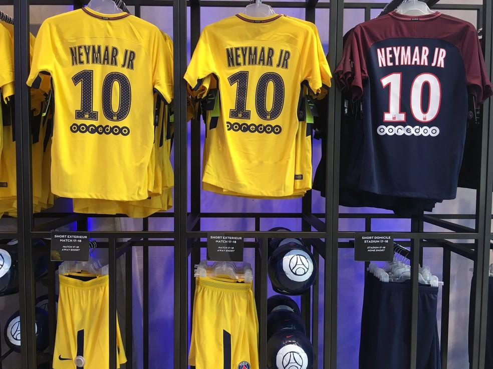 Camisas Neymar PSG (Foto: Twitter / PSG)