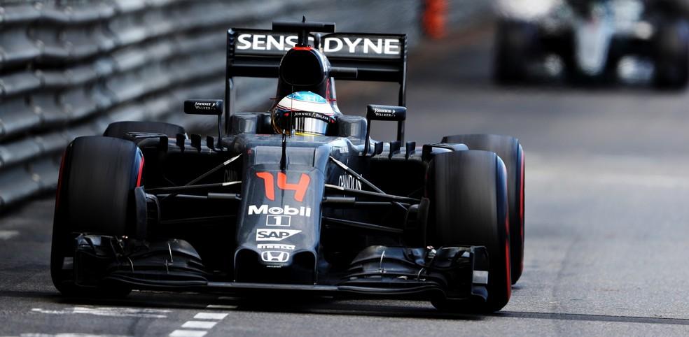 Fernando Alonso durante o GP de Mônaco de 2016 (Foto: Getty Images)
