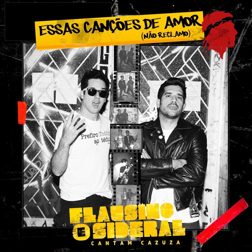 Rogério Flausino e Sideral em capa do single 'Essas canções de amor' — Foto: Divulgação