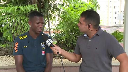 """No Seleção, Vinicius Junior festeja rápida adaptação ao Real Madrid: """"Não imaginávamos"""""""