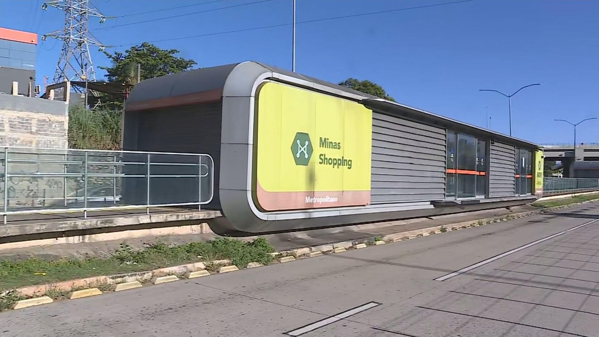 Estação Move Metropolitano Minas Shopping é furtada em BH