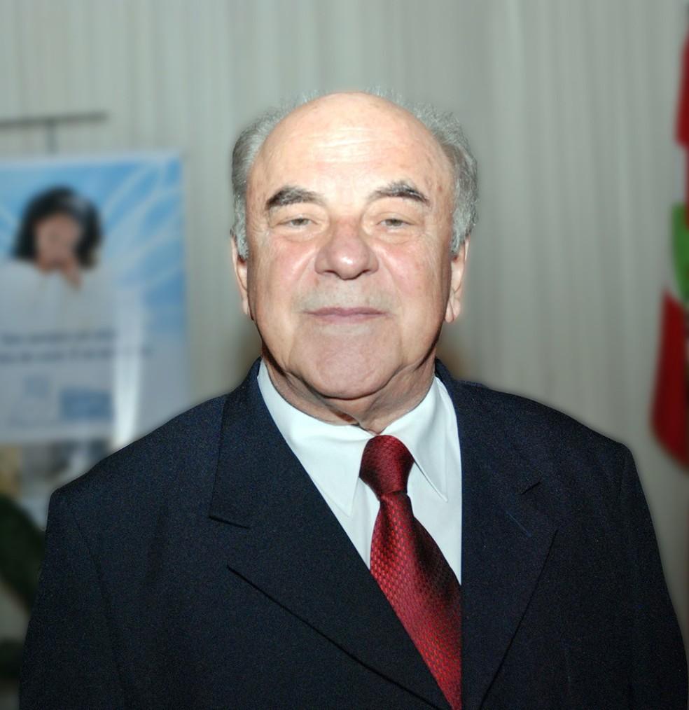 Joares Luiz Nogara de 83 anos morreu após complicações da Covid-19 em Blumenau (SC) — Foto: Hospital Santa Isabel/Divulgação
