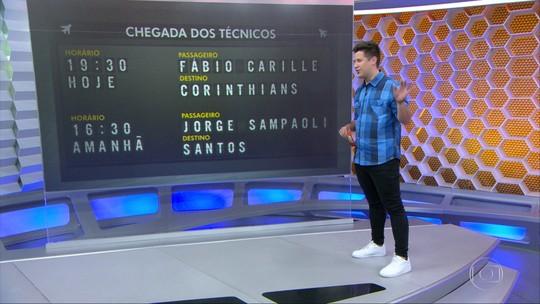 Torcidas do Corinthians e do Santos prometem festa para técnicos no aeroporto