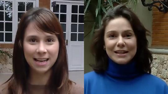 Daphne Bozaski e Aline Fanju testam amizade no 'Vídeo Show'