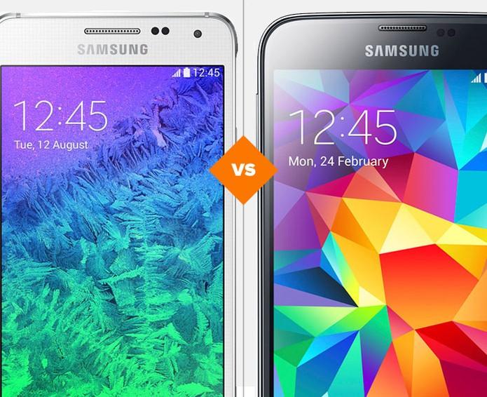 Galaxy Alpha e Galaxy S5: veja as diferenças entre os tops (Foto: Arte/TechTudo)