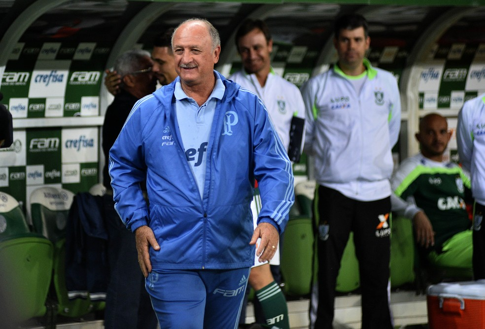 Felipão - Palmeiras x América-MG — Foto: Marcos Ribolli