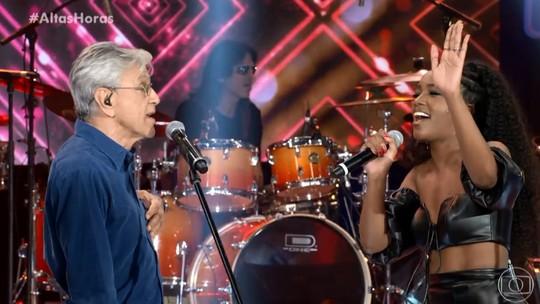 Dueto de Caetano Veloso e IZA agita a web: 'Um feat de peso'