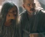 Germana (Vivianne Pasmanter) e Licurgo (Guilherme Piva) em 'Nos tempos do Imperador' | TV Globo