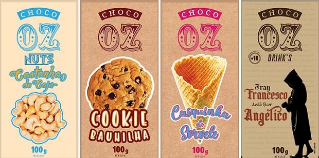 Embalagens da Choco Oz (Foto: Divulgação)
