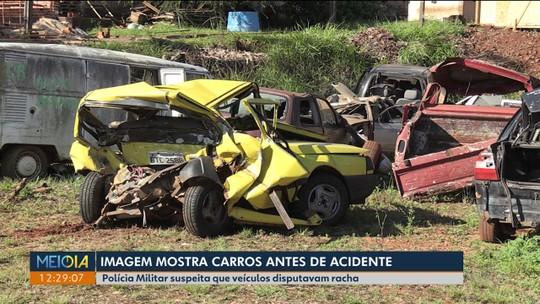 Imagens mostram Camaro minutos antes de grave acidente em Foz do Iguaçu; polícia suspeita de racha