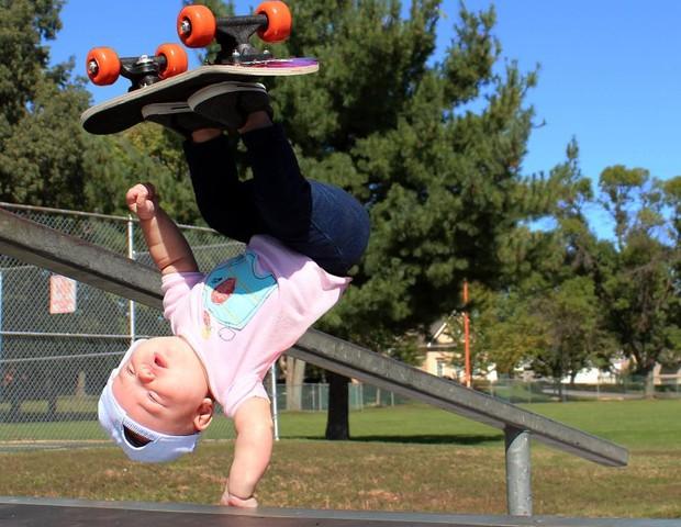 Ella andando de skate (Foto: Matt Macmakesstuff)