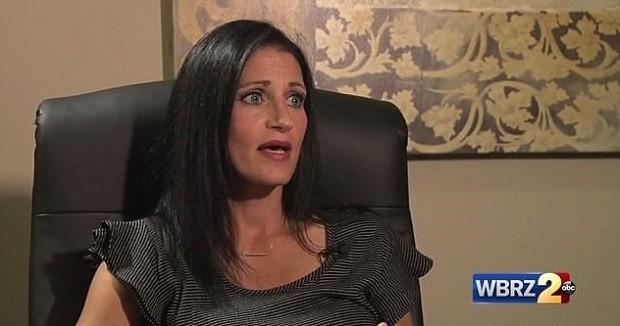 Milissa em entrevista ao WBRZ (Foto: Reprodução WBRZ)