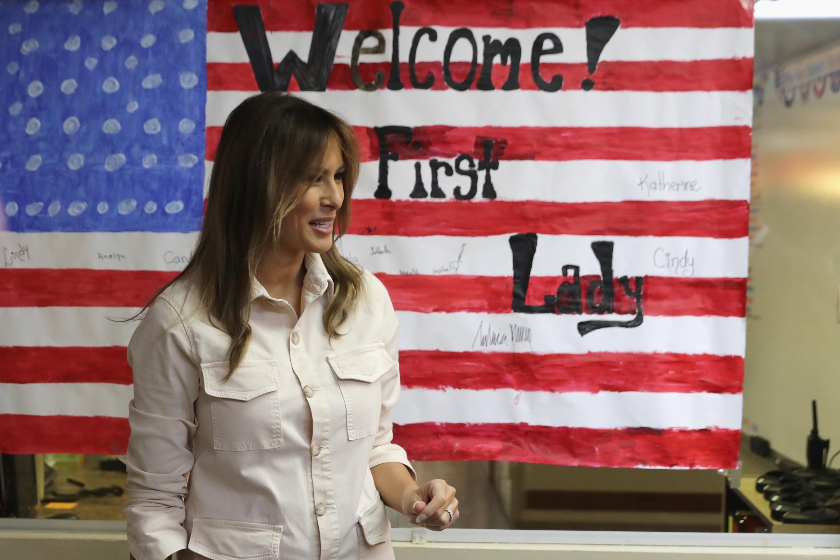 Melia Trump é o primeiro membro da família Trump a visitar centro de detenção (Foto: Getty Images)