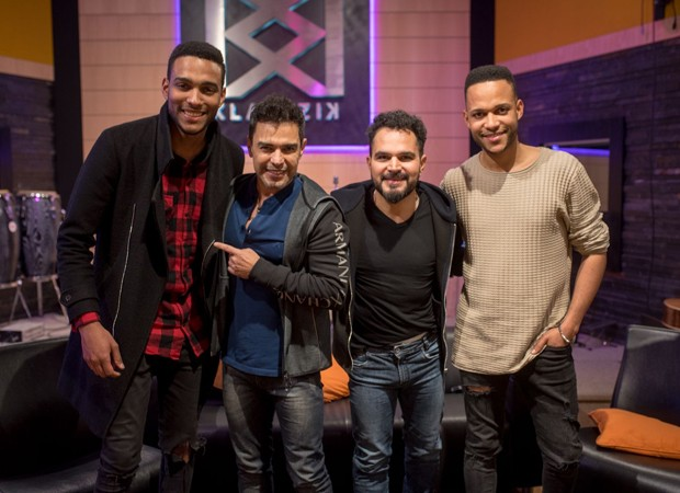 Zezé di Camargo e Luciano com os irmãos da dupla Calema Antonio e Fradique (Foto: Reprodução)