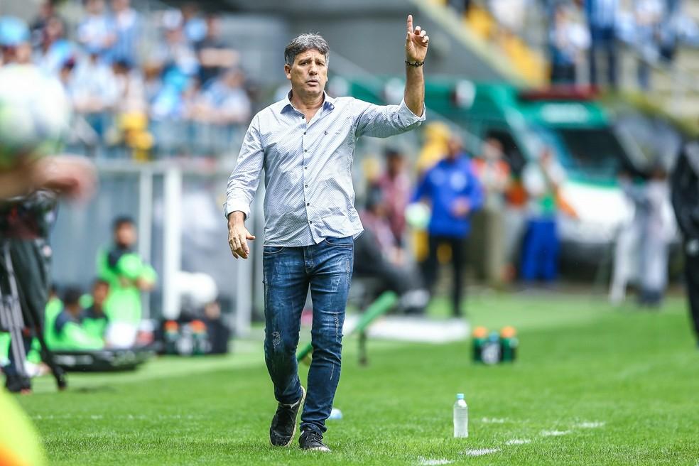 Renato Gaúcho busca os títulos do Brasileirão e da Libertadores — Foto: Lucas Uebel/Grêmio FBPA