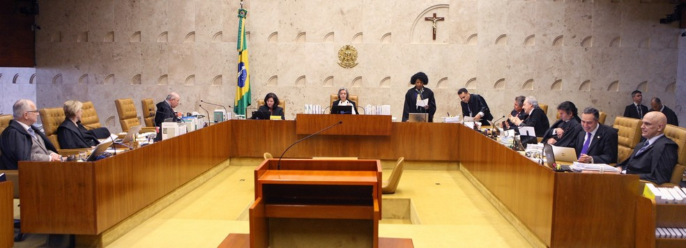 Ministros do STF no plenário do tribunal durante a sessão desta quinta-feira (21) (Foto: Nelson Jr./SCO/STF )