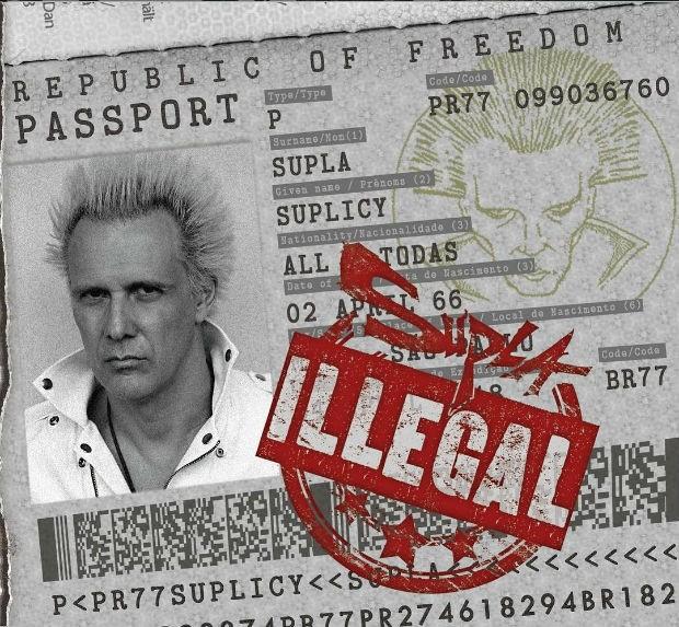 A capa de Illegal, novo disco de Supla (Foto: Reprodução)