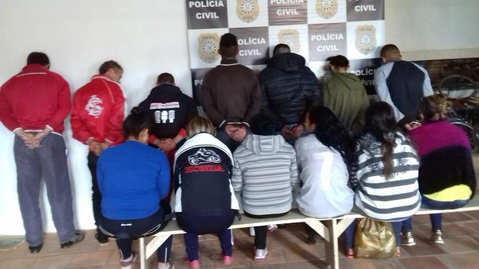 Dos 17 presos na operação, 14 prisões aconteceram em São Sepé. — Foto: Polícia Civil/Divulgação