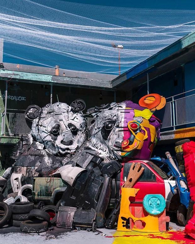 Artista plástico cria animais gigantes feitos com sucata (Foto: Divulgação )