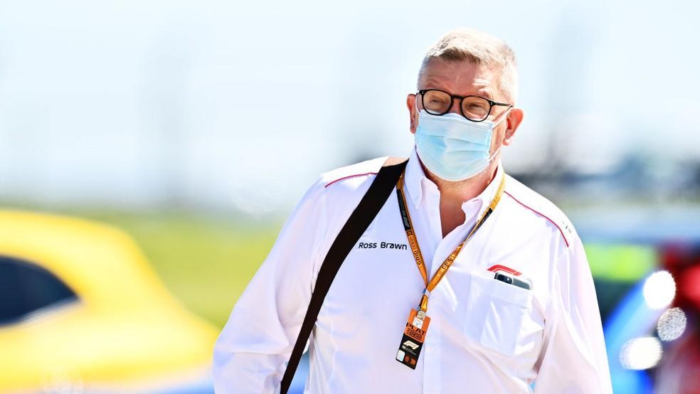 Ross Brawn, diretor esportivo da Fórmula 1, em Silverstone — Foto: Clive Mason/Formula 1 via Getty Images