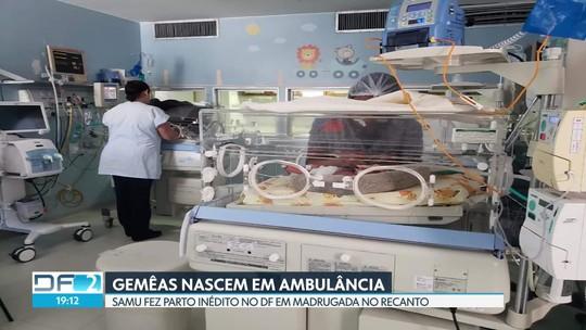 Samu faz parto inédito de gêmeas dentro de ambulância no Recanto das Emas