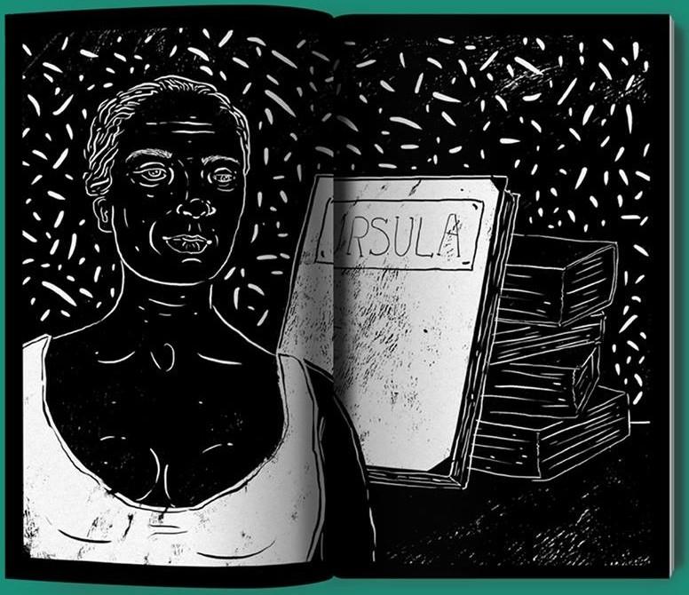 Ilustração de Gabriela Pires que está em 'Heroínas negras brasileiras em 15 cordéis', de Jarid Arraes