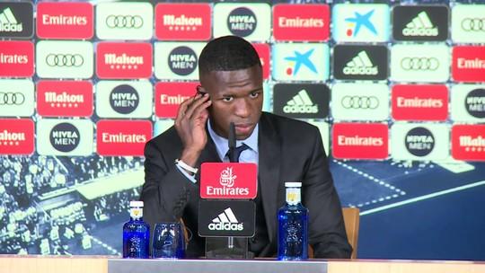 """Sobre responsabilidade no Real, Vinicius Junior: """"No Flamengo também tinha pressão"""""""