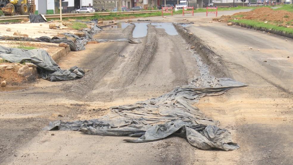 Dnit informou que terá uma reunião com engenheiros a fim de revisar o projeto de recuperação.  — Foto: Reprodução/Rede Amazônica