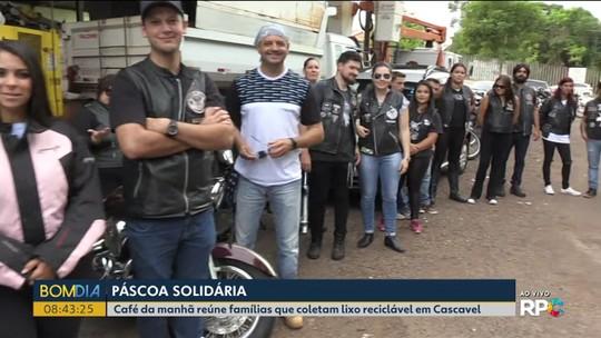 Motociclistas promovem a páscoa da solidariedade em Cascavel